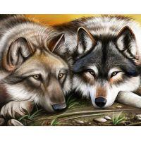 """Набор алмазной мозаики """"Волки"""" (DM-102)"""
