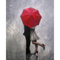 """Набор алмазной мозаики """"Влюбленные под зонтом"""" (DM-106)"""
