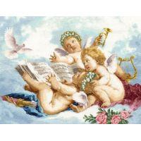 """Набор алмазной мозаики """"Ангелы на облаках"""" (DM-110)"""