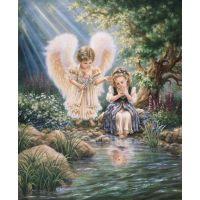"""Набор алмазной мозаики """"Ангелы у ручья"""" (DM-138)"""