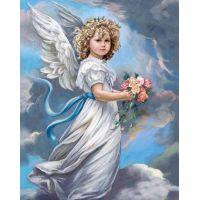 """Набор алмазной мозаики """"Ангел в облаках"""" (DM-157)"""