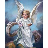 """Набор алмазной мозаики """"Ангел с цветами"""" (DM-158)"""