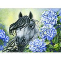 """Набор алмазной мозаики """"Лошадь в цветах"""" (DM-191)"""