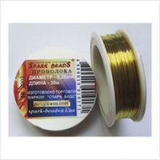 Дизайнерская проволока Ø0,25 мм (золотой)