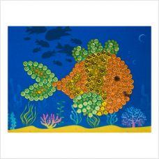 """Мозаика с пайетками и пинсами """"Рыбка"""""""