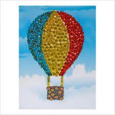 """Мозаика с пайетками и пинсами """"Воздушный шар"""""""