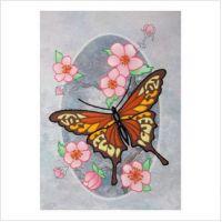 "Набор для вышивки декоративными швами и бисером ""Бабочка монарх"" (М-0823)"