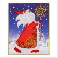 """Схема для вышивки декоративными швами """"Дед Мороз"""" (ТВ-0006)"""