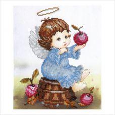 """Набор для вышивки бисером """"Ангелочек с яблоками"""""""