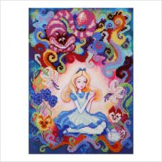"""Набор для вышивки бисером """"Алиса в стране чудес"""""""