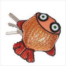 """Набор для вышивки бисером и пайетками """"Ключница """"Рыбка"""""""