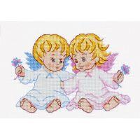 """Набор для вышивки крестом """"Ангелочки"""" (П1 014)"""