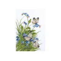 """Набор для вышивки крестом """"Бабочки в цветах"""" (П6 013)"""