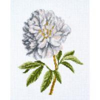 """Набор для вышивки крестом """"Белый пион"""" (P6-035)"""