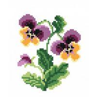 """Канва с рисунком для вышивки крестом """"Цветок"""" (СК1-01)"""