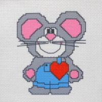"""Канва с рисунком для вышивки крестом """"Мышка"""" (СК1-010)"""
