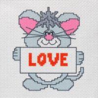 """Канва с рисунком для вышивки крестом """"Love"""" (СК1-013)"""