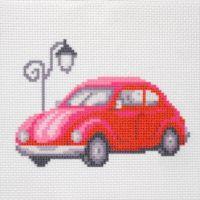 """Канва с рисунком для вышивки крестом """"Красный автомобиль"""" (СК1-016)"""