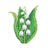 """Канва с рисунком для вышивки крестом """"Ландыш"""" (СК1-03)"""