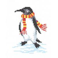 """Канва с рисунком для вышивки крестом """"Пингвин"""" (СК1-04)"""