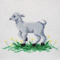 """Канва с рисунком для вышивки крестом """"Козлик""""  (СК1-05)"""