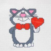 """Канва с рисунком для вышивки крестом """"Кот"""" (СК1-09)"""