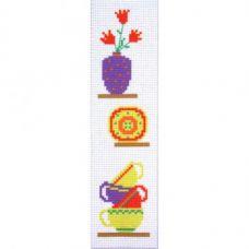 """Канва с рисунком для вышивки крестом """"Закладка для книг """"Кухня"""""""