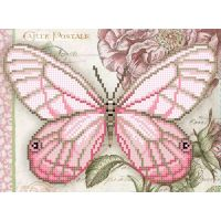 """Схема для вышивки бисером """"Белая бабочка"""" (Б4 13)"""