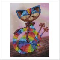 """Схема для вышивки бисером """"Цветной кот"""" (Т-0129)"""