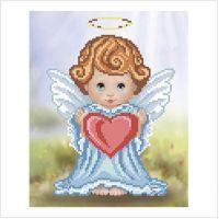 """Схема для вышивки бисером """"Ангелочек с сердечком"""" (Т-0407)"""