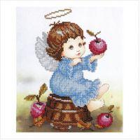 """Схема для вышивки бисером """"Ангелочек с яблоками"""" (Т-0532)"""