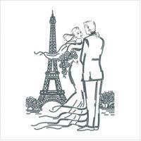 """Схема для вышивки бисером """"вприкреп"""" """"Встреча в Париже"""" (Т-0683)"""