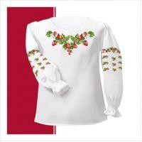 Заготовка сорочки-вышиванки для девочки (размер 30-34) (СДТ2-002)