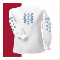 Заготовка сорочки-вышиванки для девочки (размер 30-34) (СДТ2-003)