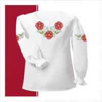 Заготовка сорочки-вышиванки для девочки (размер 30-34) (СДТ2-004)