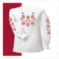 Заготовка сорочки-вышиванки для девочки (размер 30-34) (СДТ2-006)