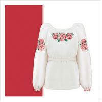 Заготовка сорочки-вышиванки для девочки (размер 36-44) (СДТ3-004)