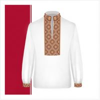 Заготовка сорочки-вышиванки для мальчика (размер 36-44) (СХТ3-001)